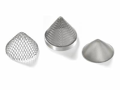 There are three cone extruder screen packs with different mesh count.