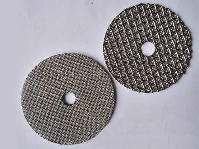 There are two ring sintered extruder screens.