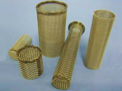 There are five brass extruder screen tubes with different sizes.