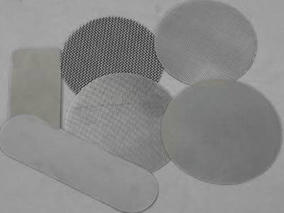 Round and rectangle shape filter discs from single layer screen
